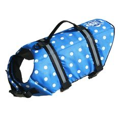Blue Polka Dot Doggy Life Jackets