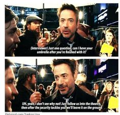 Robert Downey Jr - always willing to share
