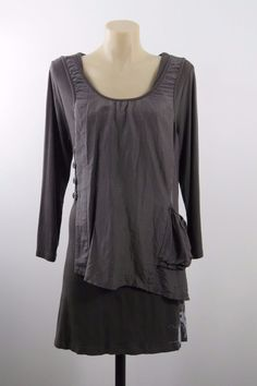 Size L 14 Pink Phoenix Ladies Grey Top Office Business Boho Chic Casual Design  | eBay