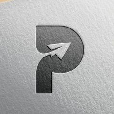 """P Logo Concept – from """"Paper Plane"""""""
