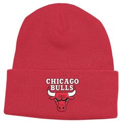 cd3cddf3c85 Chicago Bulls Cuffed Red Knit Hat. Adidas NbaKnit BeanieBeanie HatsBeanies Winter ...