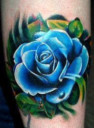 Blue Rose Tattoo By kyle Cotterman Mom Tattoos, Trendy Tattoos, Forearm Tattoos, Body Art Tattoos, Small Tattoos, Sleeve Tattoos, Tattoo E Piercing, Piercings, Tattoo Collection