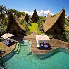 Own Villa Bali, Indonesia.    Discover the magic of Bali in this gem luxury villa hidden between Seminyak and Canggu, with a unique design and structure, raw, yet luxurious, in perfect harmony with the surrounding flourishing tropical nature     Photo by @own_villa_bali