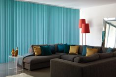 Complete vertical blind in 'Bella' fabric.