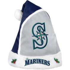 Forever Collectibles MLB 2015 Santa Hat, Seattle Mariners, Green