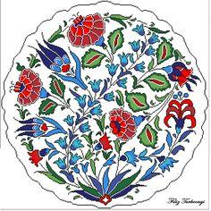 İznik Çini Tabak. Designed by Filiz Türkocağı ( İZNİK CHİNİ PLATE )