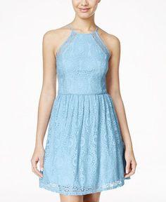 Nice Junior Bridesmaid Dresses City Studios Juniors' Lace Halter Fit & Flare Dress... Check more at http://24myshop.ml/my-desires/junior-bridesmaid-dresses-city-studios-juniors-lace-halter-fit-flare-dress/