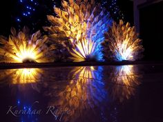 peacock centerpieces | Wedding Backdrop, decoration, photography and lighting done by Kurahaa ...