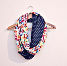 secret garden vintage scarf  -inspiration for diy-  (double sided infinity scarf)