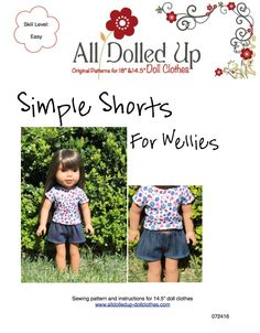 """FREE and Perfect for your 14.5"""" doll such as Wellie Wishers. Pattern Available at www.alldolledup-dollclothes.com"""