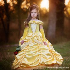 Belle Princess Gown Costume in Gold por EllaDynae en Etsy