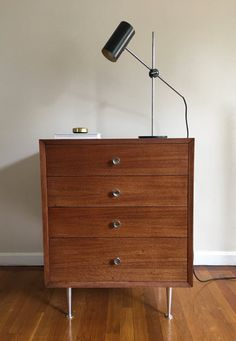 Rare 1952 George Nelson Nightstand Dressers by CaribeCasualShop