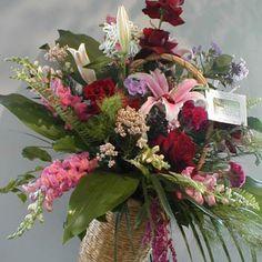 Bayberry funeral flower arrangement
