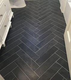# Brazillian Black – Portland Direct Tile & M … – Wanderlust Black Bathroom Floor, Black Slate Floor, Black Tile Bathrooms, Black And White Tiles, Black Kitchen Floor Tiles, Master Bathroom, Black Marble Tile, Master Shower, Bath Shower