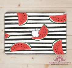 Watermelon MacBook Case. MacBook Case. Top (printed) and Bottom (clear) Hard Plastic MacBook Case by MacBookCasesandCo on Etsy