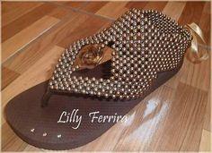 Zapatillas bordadas con perlas