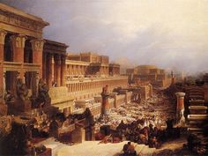 The Israelites Leaving Egypt - David Roberts 1828