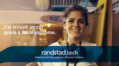 Aujourd'hui, à travers la technologie Randstad Bigdata, les plateformes Randstad Direct et Recrut'live, Randstad s'attache à faire évoluer la recherche d'emploi et toute la physionomie des ressources humaines. Pour les faire progresser. Innovation, Solution, Hui, Live, Job Search, Human Resources, Technology