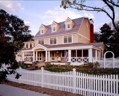 Not quite what I would go for, but I love the porch and columns.