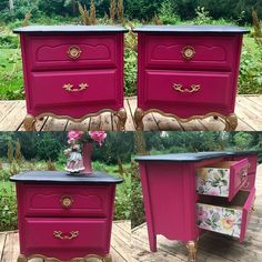 Idee per mobili funky – Recycled Furnitures Ideas Decoupage Furniture, Funky Furniture, Refurbished Furniture, Paint Furniture, Repurposed Furniture, Shabby Chic Furniture, Furniture Projects, Furniture Makeover, Vintage Furniture