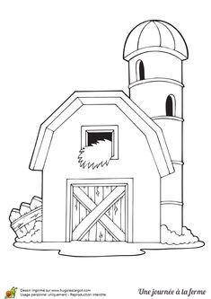 Coloriage Ferme Sans Animaux.274 Meilleures Images Du Tableau Coloriages Animaux De La Ferme