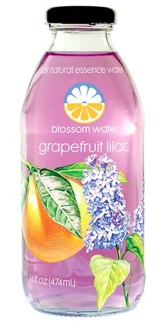 Blossom Water (Grapefruit Lilac) — Pure water infused with real fruit & flower essences, lightly sweetened with only 45 calories per bottle.   Aromatic and uniquely flavorful – sophisticated refreshment!  #kombucha  Also check out: http://kombuchaguru.com