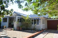 Charming 2 Bedroom Cottage For Sale In Sandbaai! Kitchen With High Ceilings, Entrance Hall, Open Plan Living, Coastal Homes, Living Area, Shed, Sunroom, Cottage, Outdoor Structures