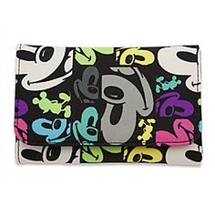 Disney Mickey Mouse Face Wallet | Disney StoreMickey Mouse Face Wallet - Mickey's guaranteed to brighten up any shopping expedition with this fun wallet. His smiling face is reproduced in a multitude of pop art-inspired images on this tri-fold wallet that has compartments for all your coins, cash, and credit cards.