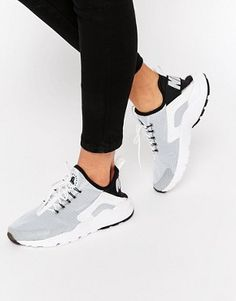 Zapatillas de deporte para correr en blanco y negro Air Huarache de Nike