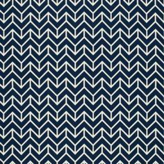 Schumacher CHEVRON PRINT NAVY Fabric