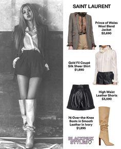 Kpop Fashion Outfits, Stage Outfits, Vintage Fashion Sketches, Looks Teen, Ash Hair, Kim Jennie, Skater Skirt, Saint Laurent, Ballet Skirt