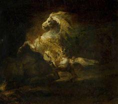 blastedheath: Théodore Géricault (French, 1791-1824), A Prancing Grey Horse, 1812. Oil on canvas, 45.1 x 54.6 cm. The Burrell Collection, G...