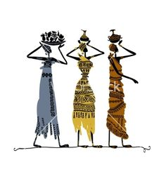 Find Hand Drawn Sketch Ethnic Women Jugs stock images in HD and millions of other royalty-free stock photos, illustrations and vectors in the Shutterstock collection. Thousands of new, high-quality pictures added every day. African Art Paintings, African Crafts, Woman Silhouette, Dancer Silhouette, Africa Art, Painting Patterns, Tribal Prints, Black Art, Vintage Posters