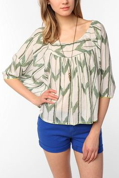 Surf Electric By Bethany Mayer Batwing Top