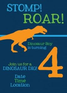 Dinosaur Party Invitation Party invitations Free printable and
