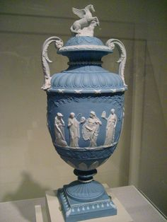 Wedgwood jasperware vase, ca. 1785 In the huge collection in Birmingham Alabama Art Museum...gorgeous