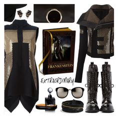 """""""."""" by the-reluctant-dragon ❤ liked on Polyvore featuring Rick Owens, Chloé, David Yurman, Agonist, Linda Farrow, Maison Michel, Nak Armstrong, women's clothing, women's fashion and women"""