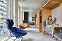DLG New Creative Workspace In Geneva By Bloomint Design Office Interior Design, Office Interiors, Innovative Office, Luxury Office, Cool Office, Office Ideas, Office Decor, Co Working, Grey Flooring
