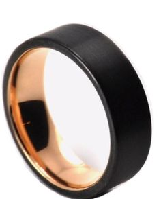 This Black Rose Ash matte ring has a natural black stone look. With it's simple masculine design it makes an incredible wedding band or mens fashion ring. Mul