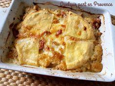 Avec cette recette, je participe à la 47° édition de la Foodista initié par cuisine moi un mouton, dont la marraine est Delphine du blog oh ! la gourmande. Pour changer de la tartiflette aux pommes de terre, accompagné d'une salade verte. Pour 3 à 4 personnes...
