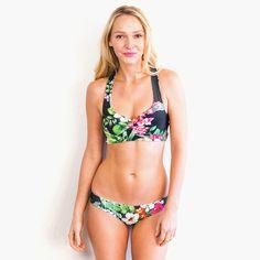 Ujena Women 39 S Two Piece Leopard Print 3 Strap Bikini Strappy Swim Top