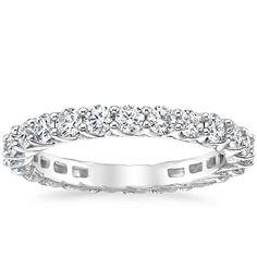 18K White Gold Signature Luxe Devota Eternity Diamond Ring (1 1/2 ct. tw.) from Brilliant Earth