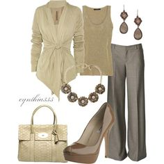 .for work- like the look- though I'd prefer a top better suited for my pale skin.
