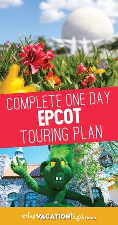 Taking a single day to explore Epcot is a monumental challenge. Follow this one day Epcot touring plan to maximize a single day. #epcot #wdw #disneytouringplans #epcotoneday