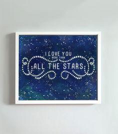 11x14 All The Stars print. $22.00, via Etsy.