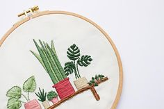 Modern Embroidery Kit Embroidery for Beginners Floral