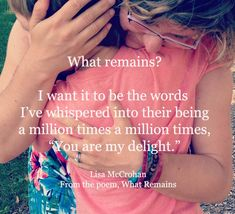 PARENT WITH THE BIGGER PICTURE IN MIND: WHAT REMAINS WITH YOUR CHILD WHEN YOU ARE GONE?