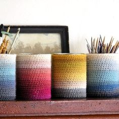 crocheted can cozies