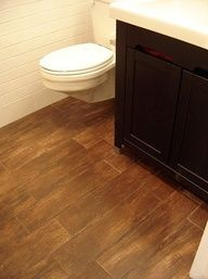 faux wood ceramic tile for the bathroom