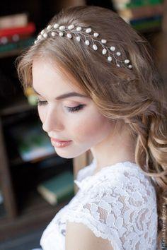 украшение для волос из проволоки и бусин - Поиск в Google